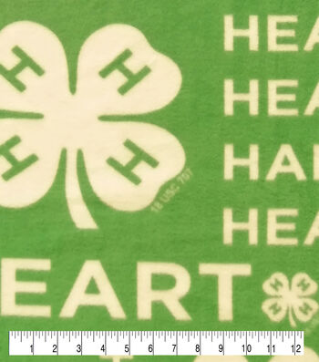 4-H Fleece Fabric-Words