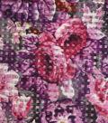 Sew Sweet Woven Basket Fabric 58\u0027\u0027-Floral Print