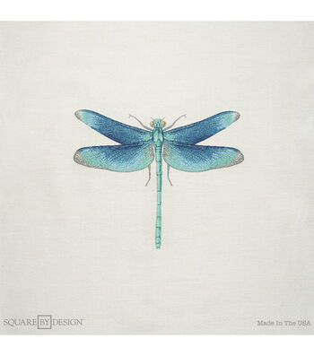 """Square By Design-Dragonfly 25"""" Woven Square"""