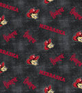 University of Nebraska Cornhuskers Flannel Fabric 42\u0022-Distressed Logo