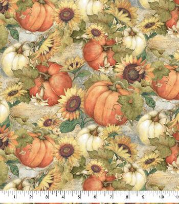 """Harvest Cotton Fabric 43""""-Sunflower Garden"""