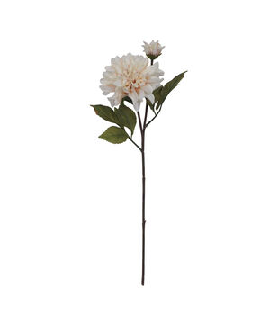 Blooming Autumn Dahlia Spray-Ivory