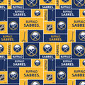 Buffalo Sabres Fleece Fabric -Block