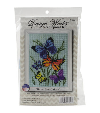 Design Works Butterflies Galore Needlepoint Kit