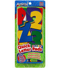 Artskills 347 pk Repositionable Quick Letter & Number Pads-Classic