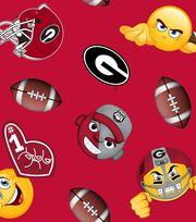 "University of Georgia Bulldogs Fleece Fabric 60""-Emoji, , hi-res"