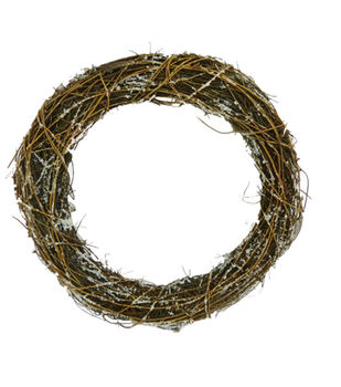 Blooming Holiday 18'' Twig Wreath-Natural