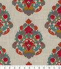 Waverly Upholstery Fabric 55\u0022-Folk Lure Emb Jewel