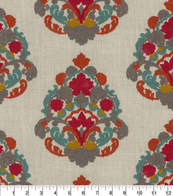 "Waverly Upholstery Fabric 55""-Folk Lure Emb Jewel"