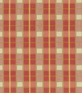 Home Decor 8\u0022x8\u0022 Fabric Swatch-Waverly Courtship Plaid Berry