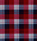 Snuggle Flannel Fabric -Skylar Gray, Blue & Red Plaid