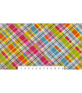 Anti-Pill Fleece Fabric 59\u0022-Diagonal Madras Plaid