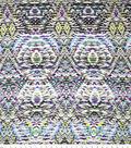 Sp Abstract Gray Purple Rayon