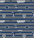 2 Yard Pre-Cut Xavier Musketeers Quilt Cotton Fabric Remnant-Polo Stripe