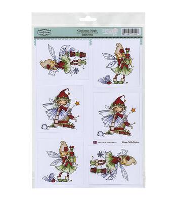 Hobby House Sugar Nellie Topper Sheet 8.5''x12.2''-Christmas Magic