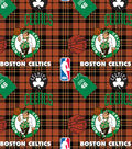 Boston Celtics Fleece Fabric -Plaid