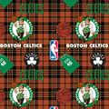 Boston Celtics Fleece Fabric -Plaid