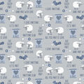 Super Snuggle Flannel Fabric-All You Knit Is Love