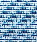 Knit Prints Rayon Spandex Fabric-Blue White Tie Dye