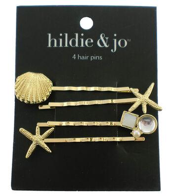 hildie & jo 4 Pack Sea Gold Hair Pins