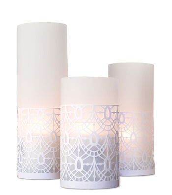 Save The Date 3 Pack Laser Cut Luminaries