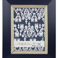 Single Image Shibori Wall Frame 4\u0027\u0027x6\u0027\u0027-Navy