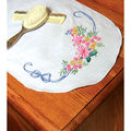 Fairway Stamped Perle Edge Dresser Scarf Ribbon & Flower