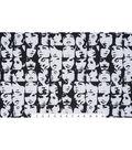 Novelty Cotton Fabric 45\u0022-Black & White In Crowd