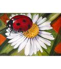 Collection D\u0027Art Diamond Embroidery Gem Kit 17X29cm-Chamomile & Ladybug