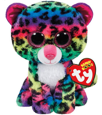 TY Beanie Boo Multicolor Leopard-Dotty