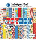 Carta Bella Double-Sided Paper Pad 6\u0022X6\u0022-Toy Box