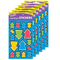 Awesome Arrows superShapes Stickers-Large 128 Per Pack, 6 Packs