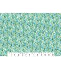 Modern Premium Cotton Print Fabric 43\u0027\u0027-Scrolling Feathers on White