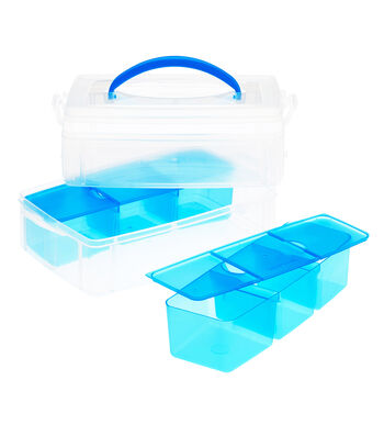 Snapware Snap N Stack 6x9 Rectangle 2layers, one with 6-sectional divider
