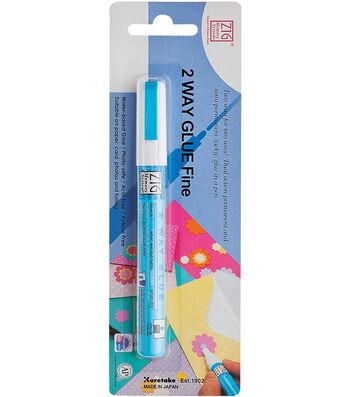 Zig 2-Way Glue Pen Carded-Fine Tip