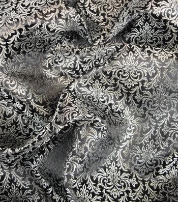 """Cosplay by Yaya Han Brocade Fabric 58""""-Silver"""