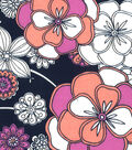 Quilter\u0027s Showcase Fabric -Mauve & Navy Large Floral