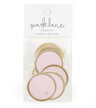 Park Lane Paperie 10 pk Metal Rim Tags-Gold & Blush