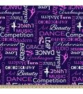 Blizzard Fleece Fabric 59\u0022-Dance Words