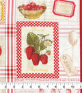 Novelty Cotton Fabric -Patch Strawberry