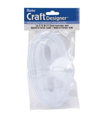 """White Plastic Mask-6.75"""""""