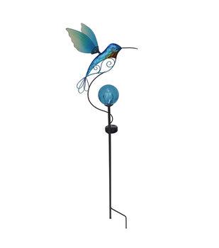 In the Garden 11.25''x39'' Hummingbird Solar Garden Stake