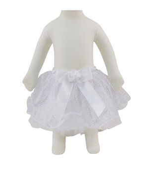 Maker's Halloween Infant Tiered Tutu-White