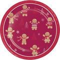 Handmade Holiday Christmas 8 pk 7\u0027\u0027 Paper Lunch Plates-Gingerbread Men