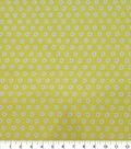 Quilter\u0027s Showcase Cotton Fabric-White Flowers Yellow
