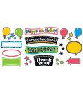 Bold Strokes Wipe-Off Celebration Signs Bulletin Board Set