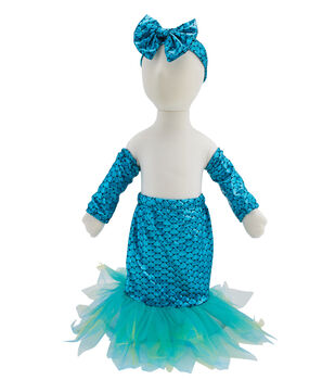 Maker's Halloween 3pc Toddler Costume Set-Mermaid