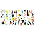 York Wallcoverings Wall Decals-Tribal Alphabet