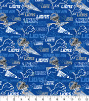 Detroit Lions Cotton Fabric-Retro, , hi-res