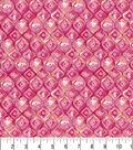 Premium Cotton Fabric -Morocan Tile Pink